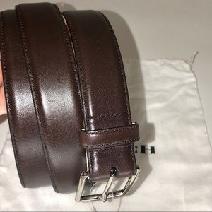 COACH Men's Leather Brown Belt Size 40 NWT